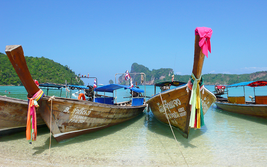 Longtailboote, Koh Phi Phi, Thailand