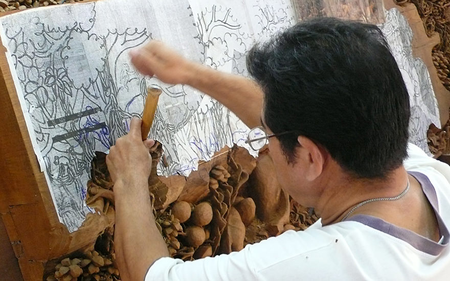 Wood Carving, Chiang Mai