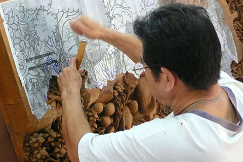 Wood Carving, Thailand