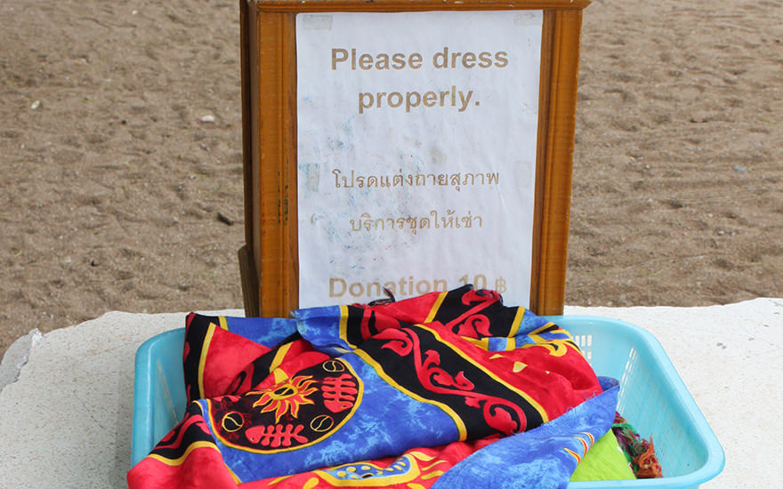 Dress properly, Tempel, Thailand